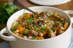 Meatball and pasta stew Stock Image