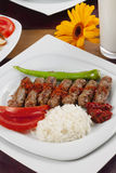 Meatball. A plate of turkish meatballs Stock Photography