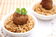 Meatball with rice Royalty Free Stock Photo