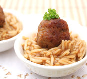 Meatball with rice Stock Photo