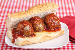 Meatball Sandwich Royalty Free Stock Photography