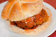 Meatball Sandwich Royalty Free Stock Photo
