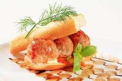 Meatball sandwich Royalty Free Stock Image
