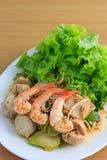 Meatball and shrimp salad Stock Image