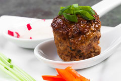 Meatball with Sides Stock Images