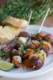 Meatball skewers Royalty Free Stock Photo
