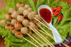 Meatball skewers Royalty Free Stock Photo