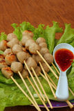Meatball skewers Royalty Free Stock Photos