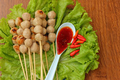 Meatball skewers Royalty Free Stock Photography
