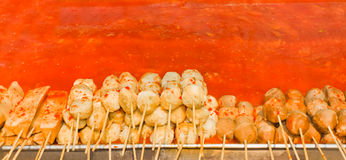 Meatball skewers. Stock Photography