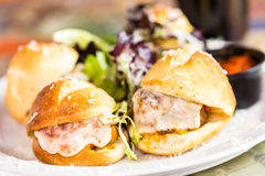 Meatball sliders Royalty Free Stock Photography