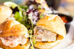 Meatball sliders Stock Image