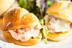 Meatball sliders Royalty Free Stock Photos