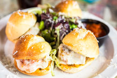 Meatball sliders Royalty Free Stock Images