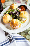 Meatball sliders Stock Photography