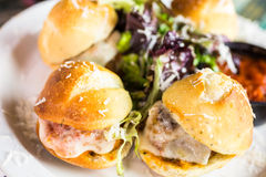 Meatball sliders Royalty Free Stock Image