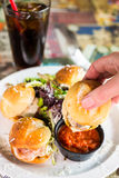 Meatball sliders Stock Images