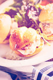 Meatball sliders Stock Photo
