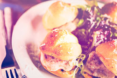 Meatball sliders Royalty Free Stock Image
