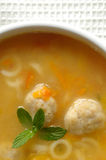 Meatball Soup. Traditional bulgarian homemade meatball soup Royalty Free Stock Photography