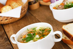 Meatball soup Stock Image
