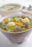 Meatball soup. In two bowls Stock Photography
