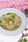 Meatball soup Royalty Free Stock Photography