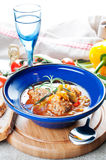 Meatball soup with vegetables Stock Photography