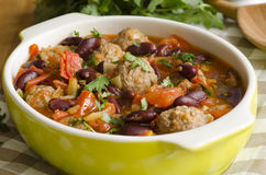 Meatball stew Royalty Free Stock Images