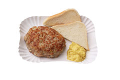 Meatball and toast Royalty Free Stock Photos