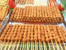 Meatball-toast Stock Photo