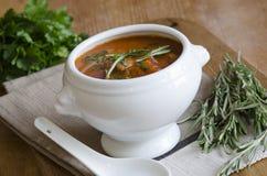 Meatball and tomato soup Stock Image