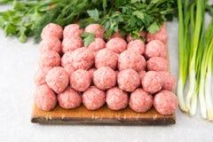 meatballs сырцовые Стоковые Изображения