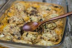Meatballs с рисом Стоковые Фотографии RF