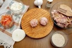 meatballs Royaltyfria Foton