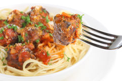 Meatballs ans Spaghetti Royalty Free Stock Photo