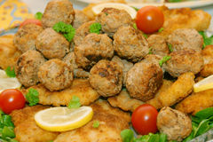 Meatballs - appetizer plate Stock Image