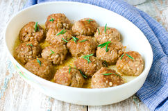 Meatballs with barley Royalty Free Stock Image