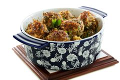 Meatballs with beef and pork. Royalty Free Stock Photo
