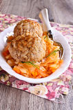 Meatballs with braised cabbage Royalty Free Stock Image