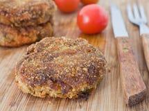 Meatballs on breadboard. Stock Image