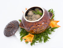 Meatballs in broth Stock Photography