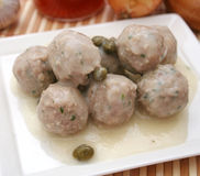 Meatballs with capers Royalty Free Stock Images