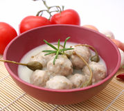 Meatballs with capers Stock Photo