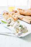 Meatballs with cheese Stock Photography