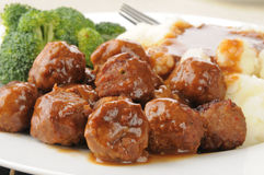 Meatballs closeup Royalty Free Stock Photo