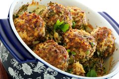 Meatballs closeup. Stock Photography