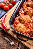 Meatballs com molho foto de stock