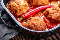 Meatballs com molho foto de stock royalty free