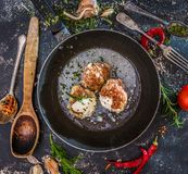 Meatballs cooked at home Royalty Free Stock Photo